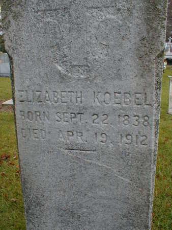 KOEBEL, ELIZABETH - Bremer County, Iowa | ELIZABETH KOEBEL