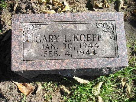 KOEFF, GARY L - Bremer County, Iowa   GARY L KOEFF