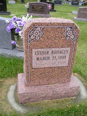 KOHAGEN, ESTHER - Bremer County, Iowa | ESTHER KOHAGEN