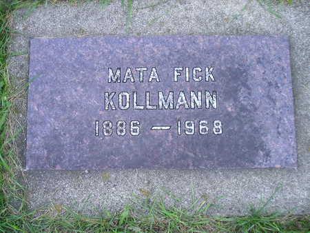 KOLLMANN, MATA FICK - Bremer County, Iowa | MATA FICK KOLLMANN