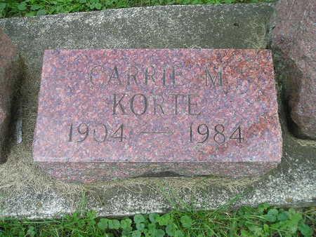 KORTE, CARRIE M - Bremer County, Iowa | CARRIE M KORTE