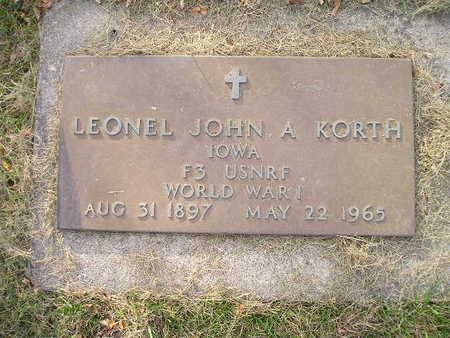 KORTH, LEONEL JOHN A - Bremer County, Iowa | LEONEL JOHN A KORTH