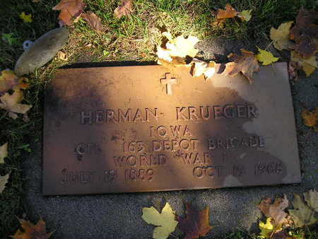 KRUEGER, HERMAN - Bremer County, Iowa   HERMAN KRUEGER