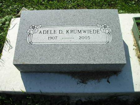 KRUMWIEDE, ADELE D - Bremer County, Iowa | ADELE D KRUMWIEDE