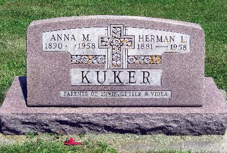 KUKER, ANNA M - Bremer County, Iowa | ANNA M KUKER