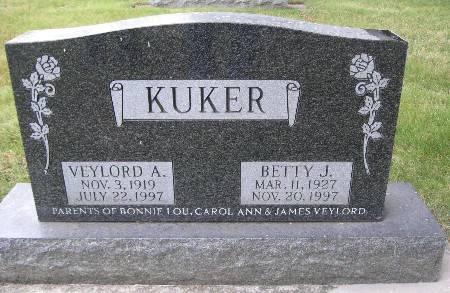 KUKER, BETTY J - Bremer County, Iowa   BETTY J KUKER