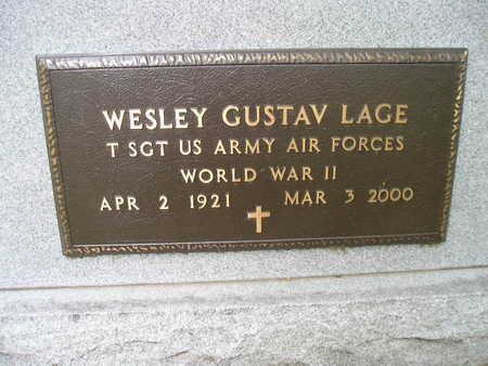 LAGE, WESLEY GUSTAV - Bremer County, Iowa | WESLEY GUSTAV LAGE