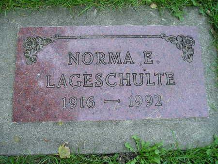 LAGESCHULTE, NORMA E - Bremer County, Iowa   NORMA E LAGESCHULTE
