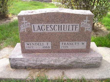 LAGESCHULTE, WENDELL F - Bremer County, Iowa | WENDELL F LAGESCHULTE