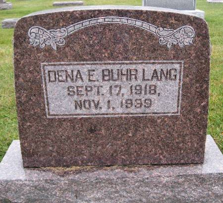 BUHR LANG, DENA E - Bremer County, Iowa   DENA E BUHR LANG
