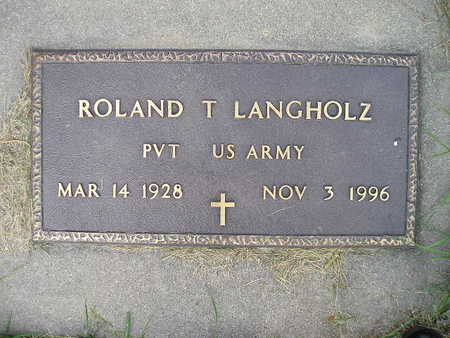 LANGHOLZ, ROLAND T - Bremer County, Iowa   ROLAND T LANGHOLZ