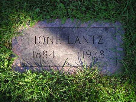 LANTZ, IONE - Bremer County, Iowa   IONE LANTZ