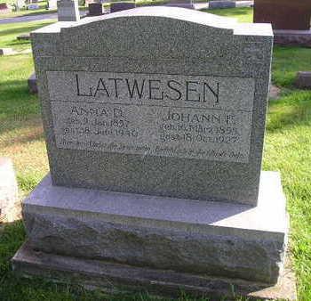 LATWESEN, ANNA D - Bremer County, Iowa | ANNA D LATWESEN