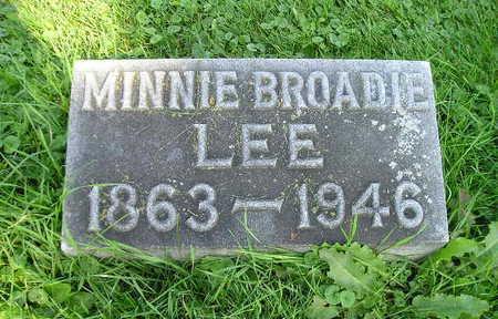 LEE, MINNIE - Bremer County, Iowa | MINNIE LEE