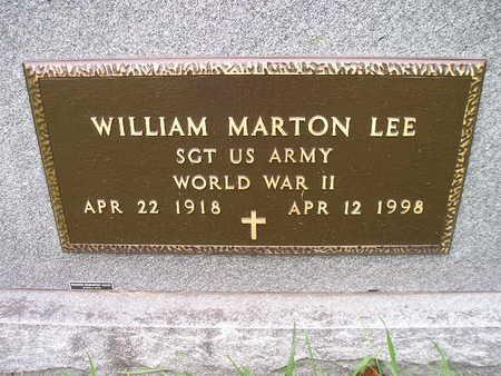 LEE, WILLIAM MARTON - Bremer County, Iowa | WILLIAM MARTON LEE