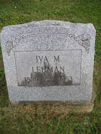 LEHMAN, IVA M - Bremer County, Iowa | IVA M LEHMAN