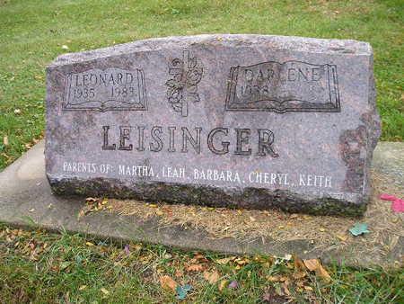 LEISINGER, LEONARD - Bremer County, Iowa | LEONARD LEISINGER