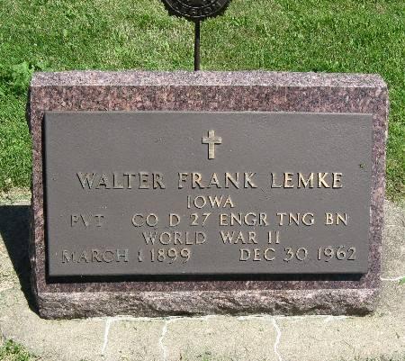 LEMKE, WALTER FRANK - Bremer County, Iowa | WALTER FRANK LEMKE