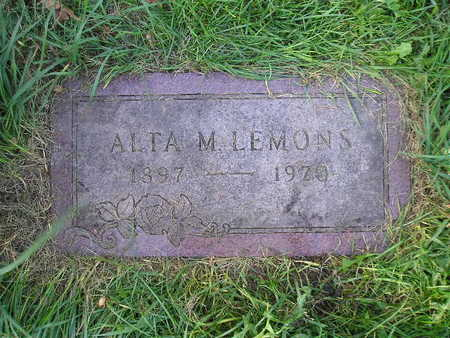 LEMONS, ALTA M - Bremer County, Iowa | ALTA M LEMONS