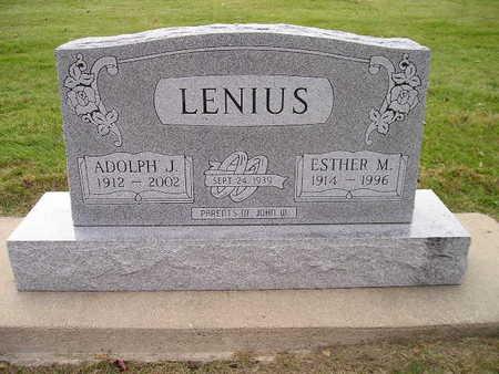 LENIUS, ESTHER M - Bremer County, Iowa | ESTHER M LENIUS