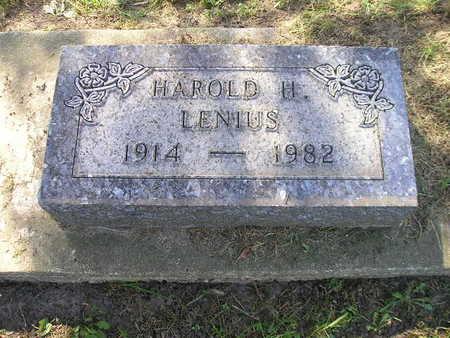 LENIUS, HAROLD H - Bremer County, Iowa | HAROLD H LENIUS
