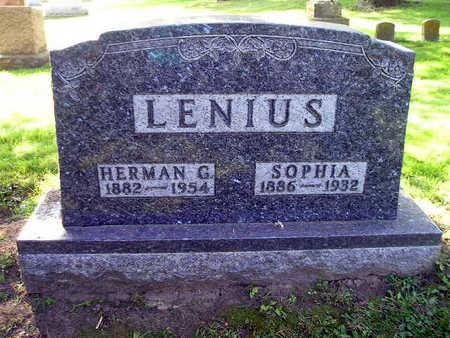 LENIUS, HERMAN G - Bremer County, Iowa   HERMAN G LENIUS