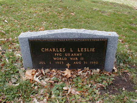 LESLIE, CHARLES L - Bremer County, Iowa | CHARLES L LESLIE