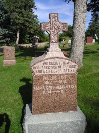 LIST, PAULUS - Bremer County, Iowa | PAULUS LIST