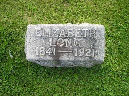 LONG, ELIZABETH - Bremer County, Iowa | ELIZABETH LONG
