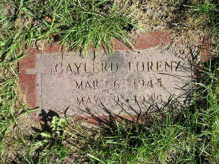 LORENZ, GAYLERD - Bremer County, Iowa | GAYLERD LORENZ