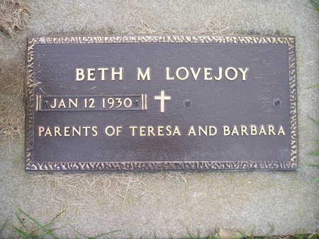 LOVEJOY, BETH M - Bremer County, Iowa | BETH M LOVEJOY
