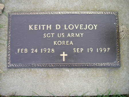 LOVEJOY, KEITH D - Bremer County, Iowa   KEITH D LOVEJOY