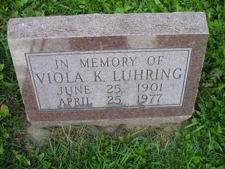 LUHRING, VIOLA K - Bremer County, Iowa   VIOLA K LUHRING