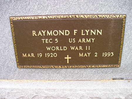 LYNN, RAYMOND F - Bremer County, Iowa | RAYMOND F LYNN