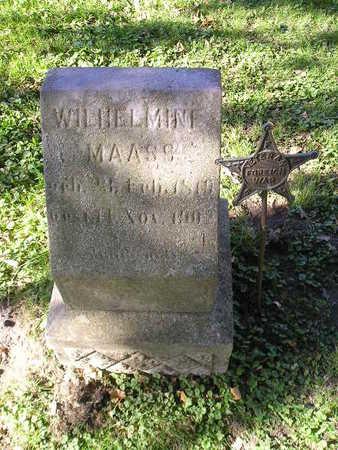 MAASS, WILHELMINE - Bremer County, Iowa | WILHELMINE MAASS