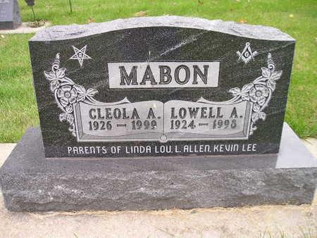 MABON, CLEOLA A - Bremer County, Iowa | CLEOLA A MABON