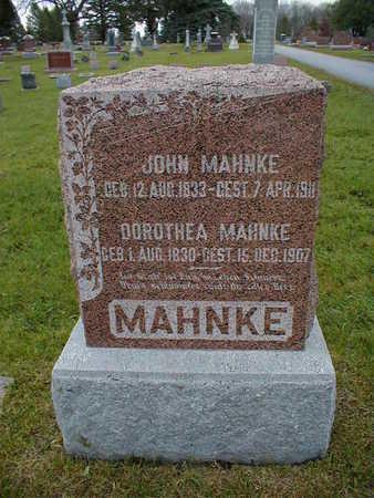 MAHNKE, DOROTHEA - Bremer County, Iowa   DOROTHEA MAHNKE
