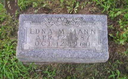 MANN, EDNA M - Bremer County, Iowa | EDNA M MANN