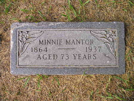 MANTOR, MINNIE - Bremer County, Iowa | MINNIE MANTOR