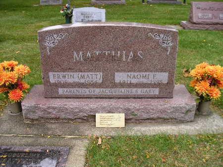MATTHIAS, NAOMI F - Bremer County, Iowa | NAOMI F MATTHIAS