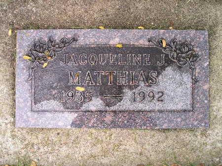 MATTHIAS, JACQUELINE J - Bremer County, Iowa | JACQUELINE J MATTHIAS