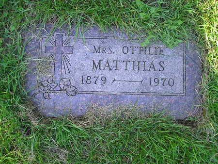 MATTHIAS, OTTILIE - Bremer County, Iowa | OTTILIE MATTHIAS