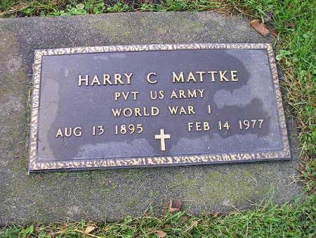 MATTKE, HARRY C - Bremer County, Iowa | HARRY C MATTKE