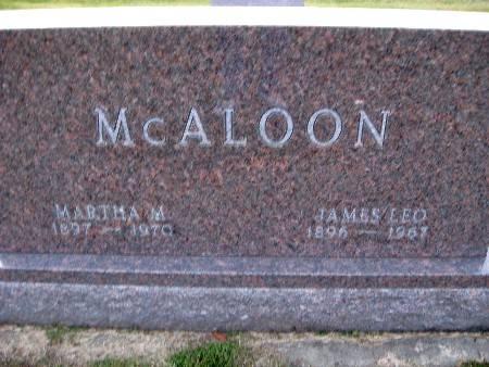 MCALOON, MARTHA M - Bremer County, Iowa | MARTHA M MCALOON