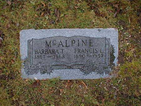 MCALPINE, FRANCIS L - Bremer County, Iowa | FRANCIS L MCALPINE