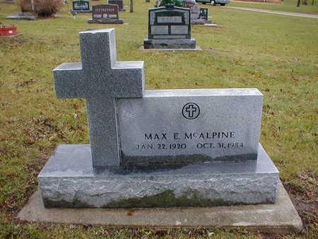 MCALPINE, MAX E - Bremer County, Iowa | MAX E MCALPINE