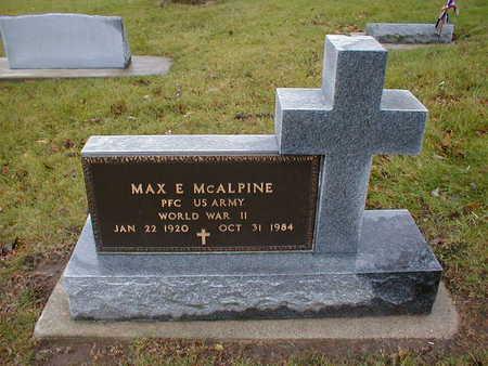 MCALPINE, MAX E - Bremer County, Iowa   MAX E MCALPINE