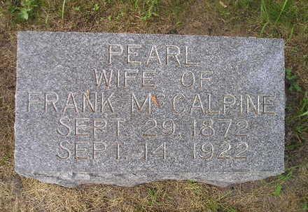 MCCALPINE, PEARL - Bremer County, Iowa | PEARL MCCALPINE