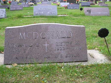MCDONALD, RICHARD E - Bremer County, Iowa | RICHARD E MCDONALD