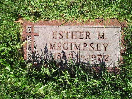 MCGIMPSEY, ESTHER M - Bremer County, Iowa   ESTHER M MCGIMPSEY